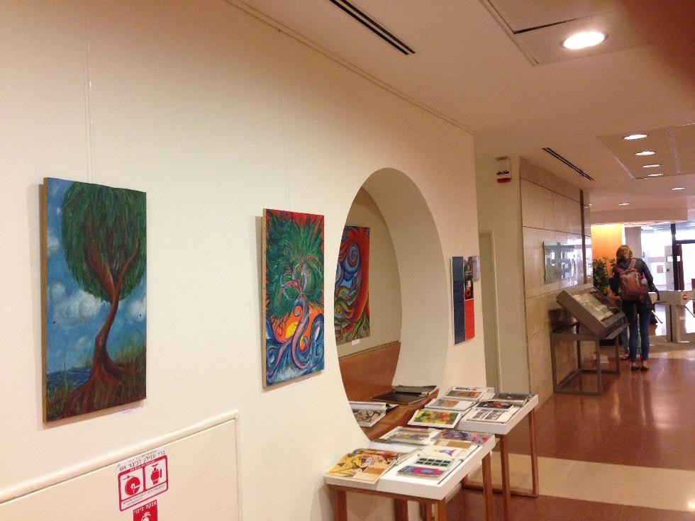 תערוכת ציורי סטודנטים בספריה הלאומית אונ' עברית בהר הצופים